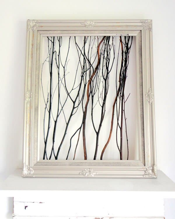 framed 3d wood art