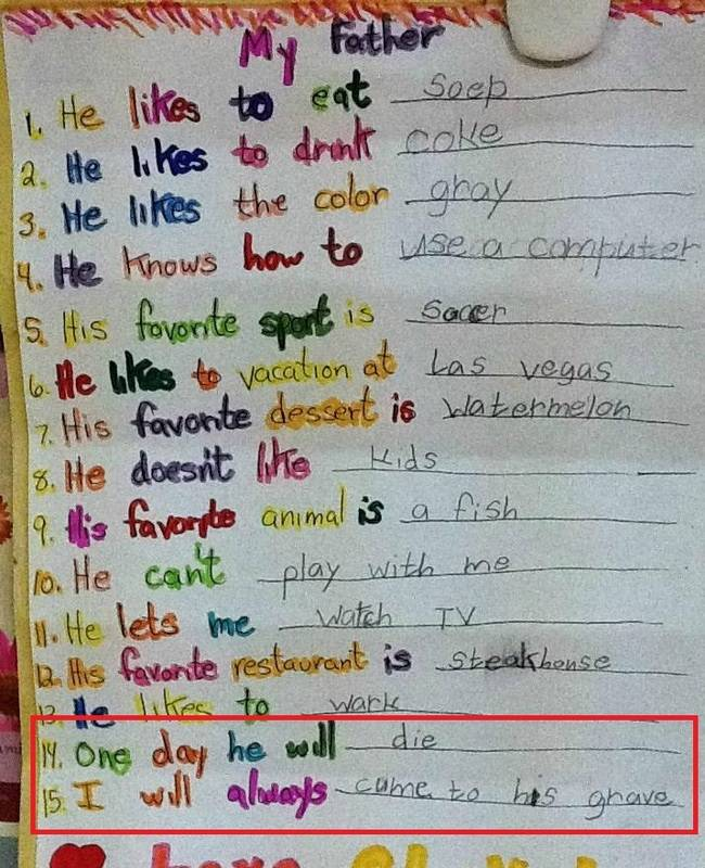 20 Brilliant test answers given by kids  Some of these are genius