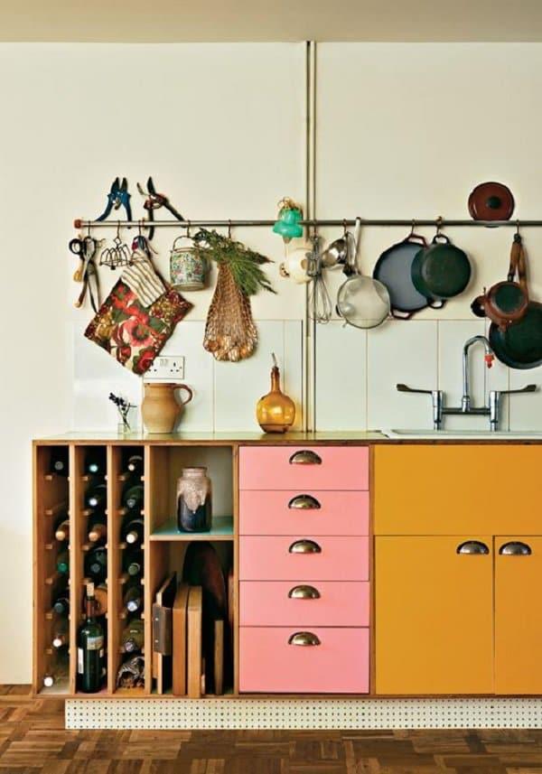 hanging bar kitchen