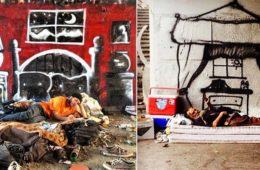 homeless-street art
