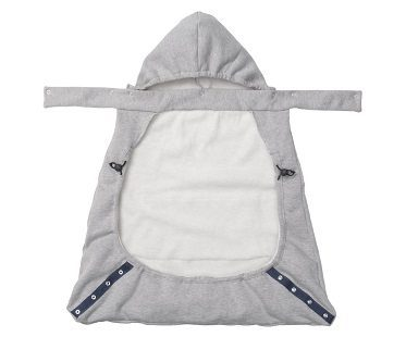 hoodie baby carrier cover grey