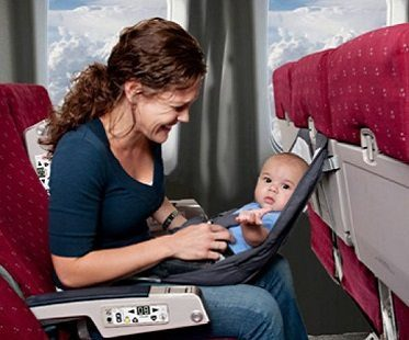 infant airplane seat baby