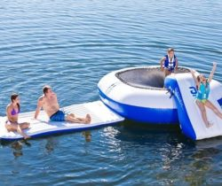 inflatable trampoline and water slide