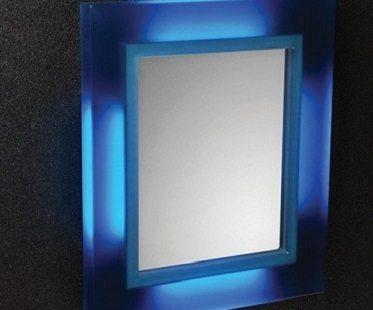 led bathroom mirror blue