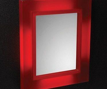 led bathroom mirror red