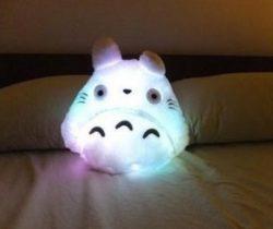 led totoro pillow
