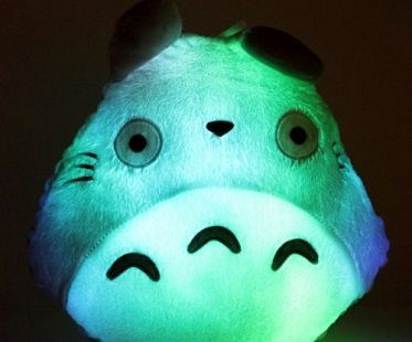 led totoro pillow green