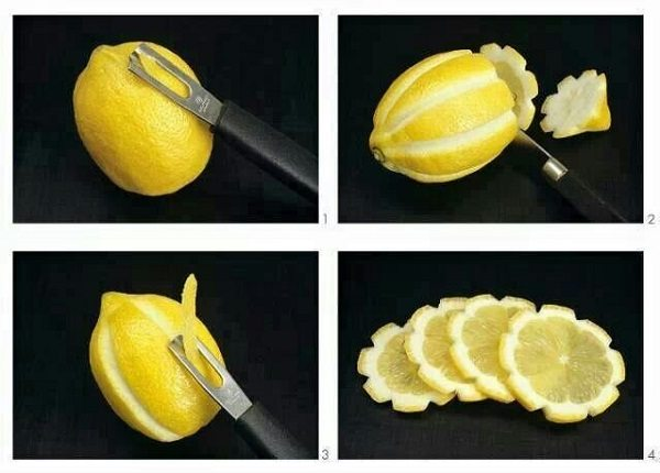 lemon flower garnish