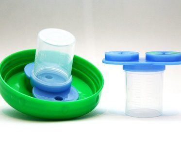 medicine dispensing sippy cup inside