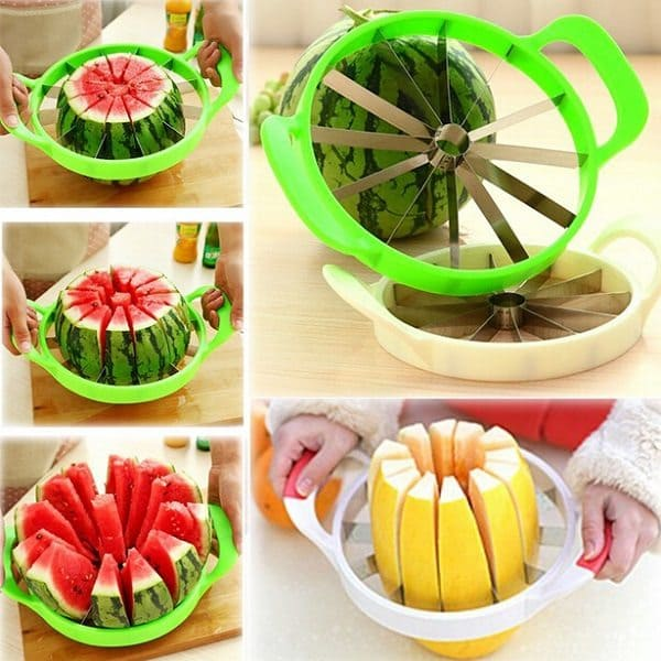 melon slicer being used