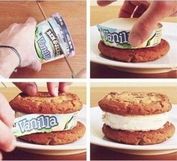 perfect ice cream sandwich