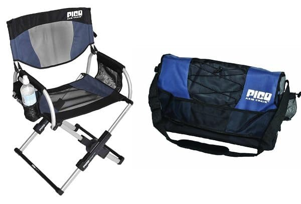 portable chair with chair folded into bag