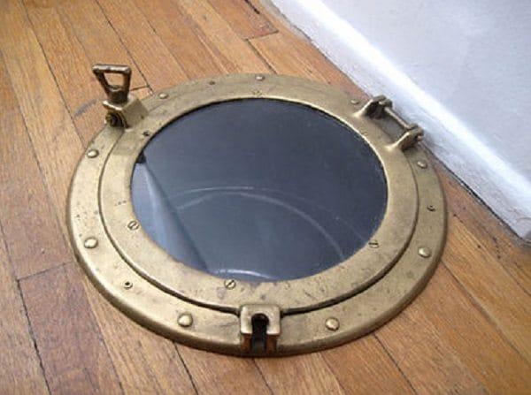 porthole laundry chute