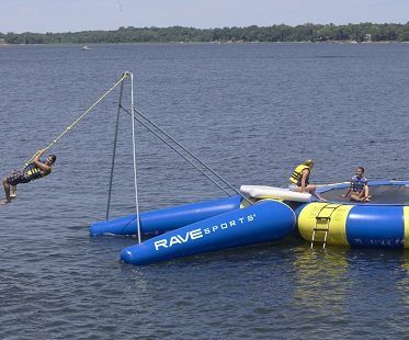 rope swing water trampoline
