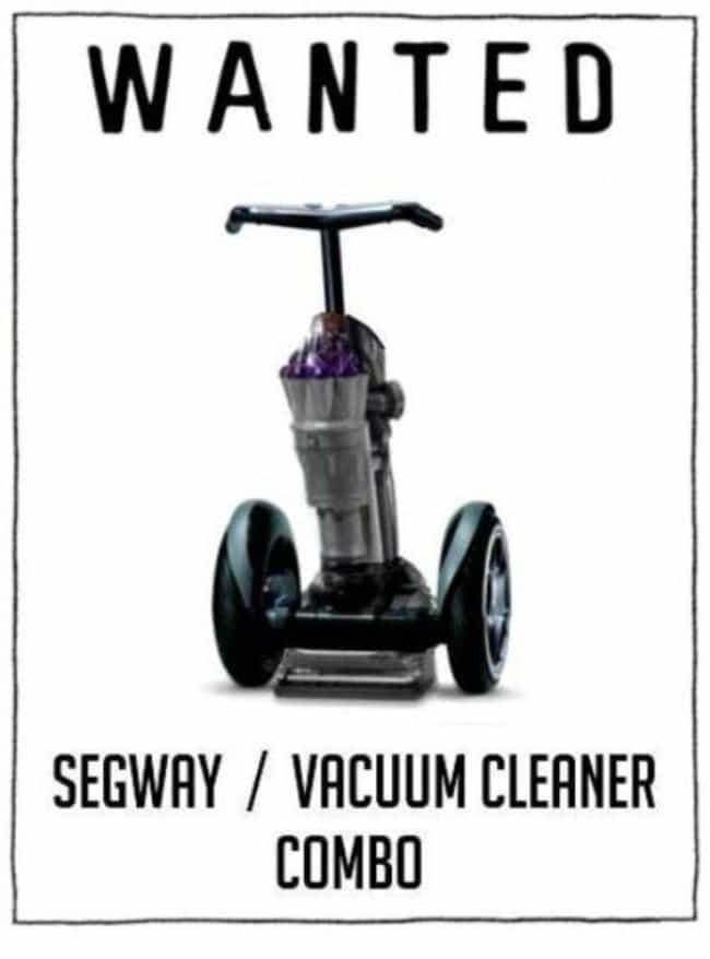 wanted segway vacuum cleaner combo