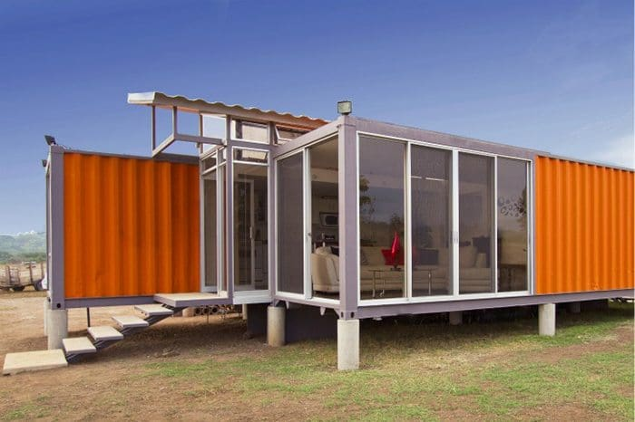 Who knew you could turn a shipping container into this for Shipping container pier foundation