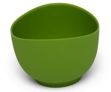 silicone mixing bowl green