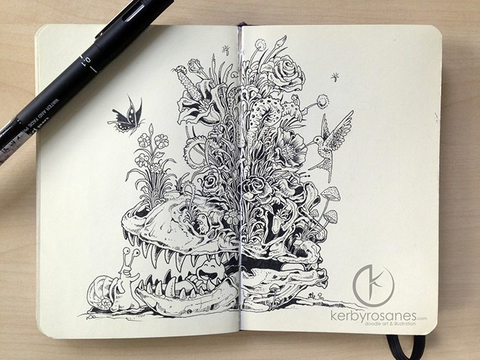 skeleton drawing kerby rosanes