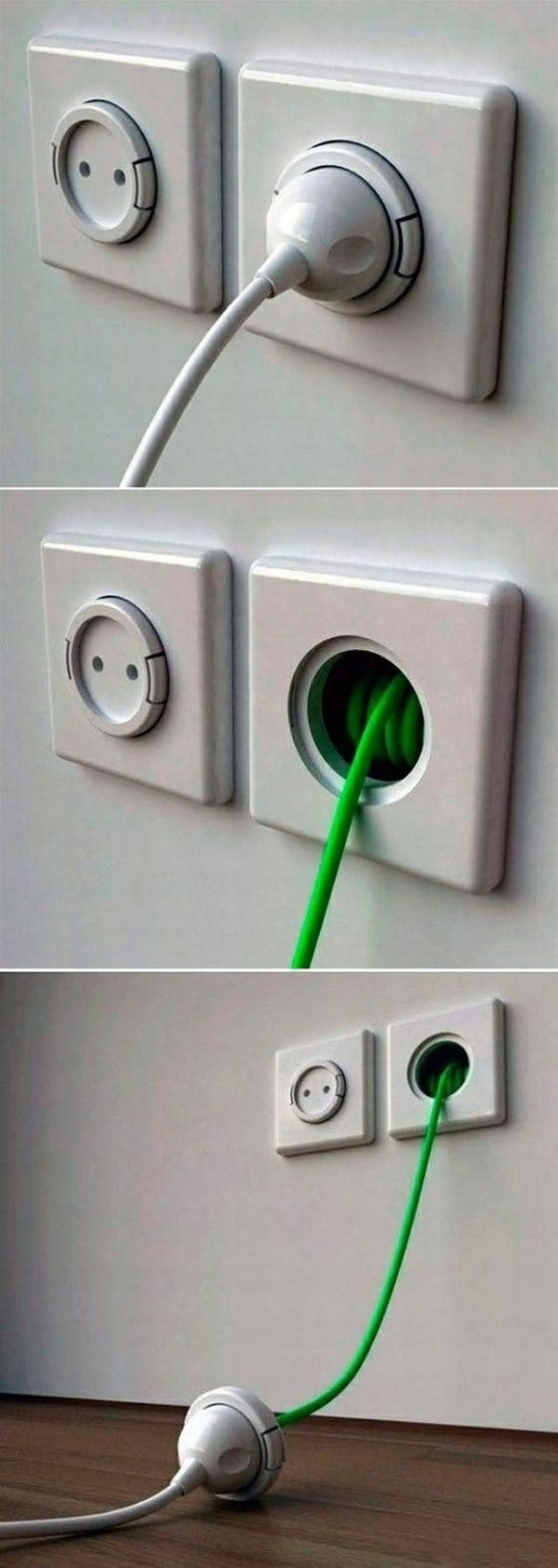 genius idea for socket extension cord