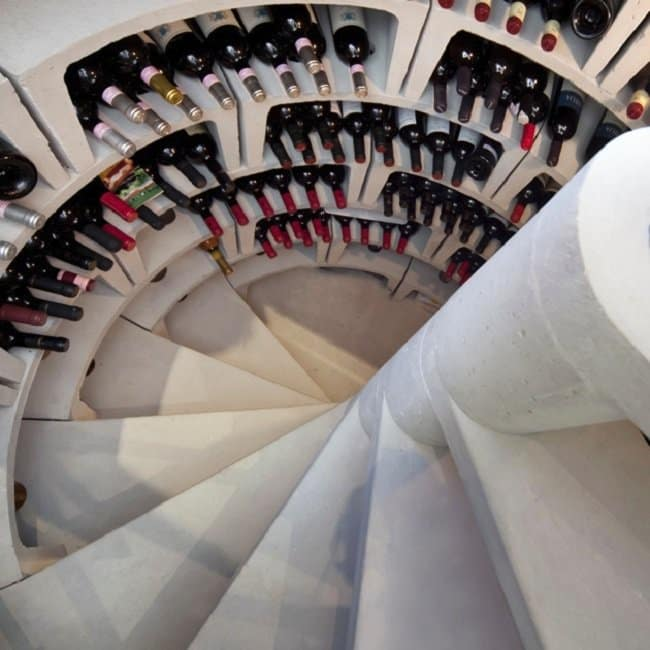 spiral wine cellar down