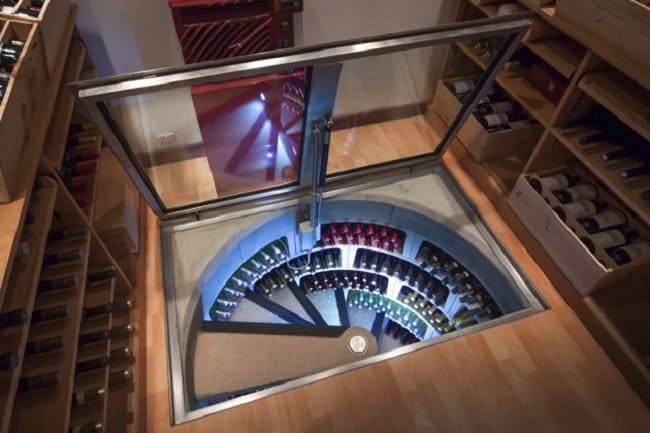 spiral wine cellar storage