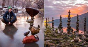 stone balancing art