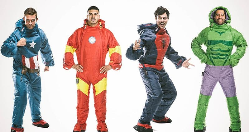 superhero sleeping bags