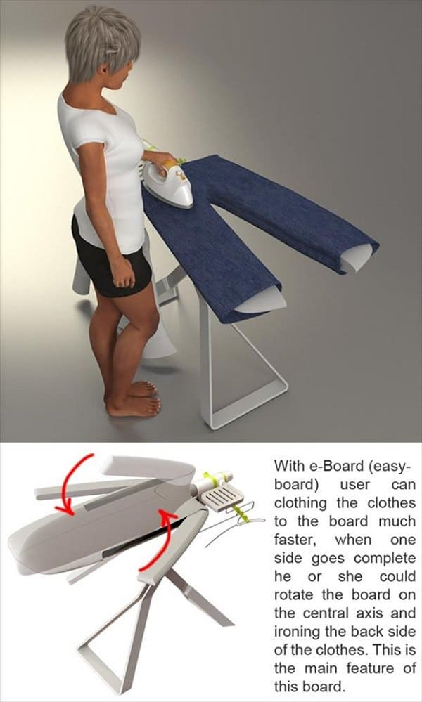 two lef ironing board