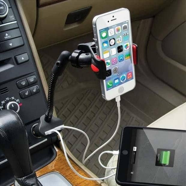 usb car charger cradle