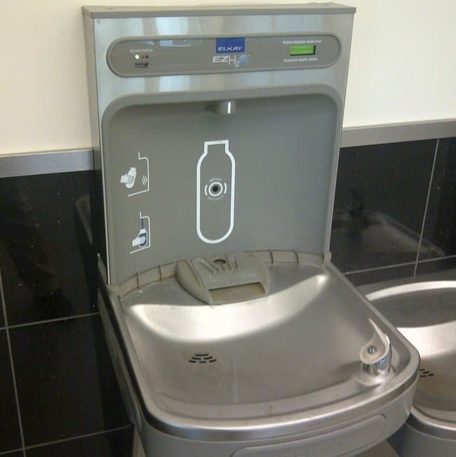 water fountain that lets you fill up bottles