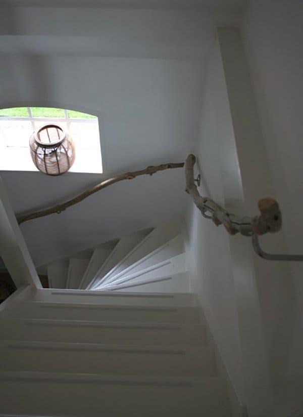 wooden hand rails