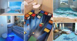 3d bathroom floor