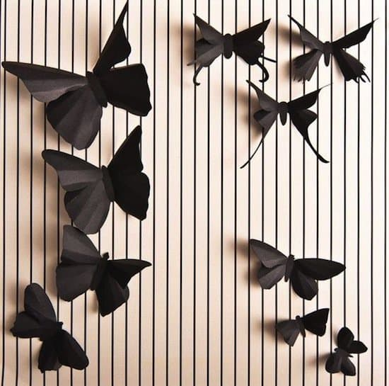 3d-black-butterflies