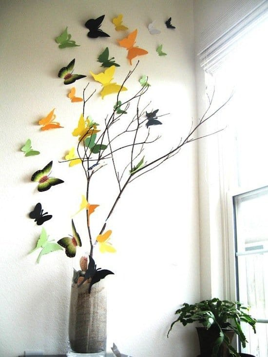 3d-butterflies-yellow