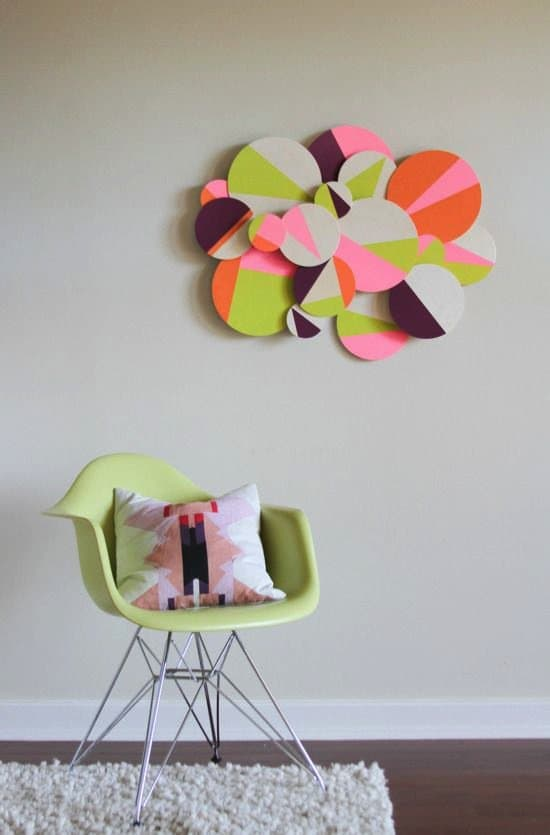 21 creative diy wall art ideas to decorate your space for Geometric wall art diy