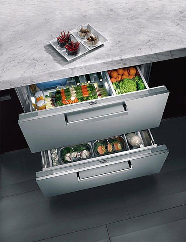 Chilled produce drawers