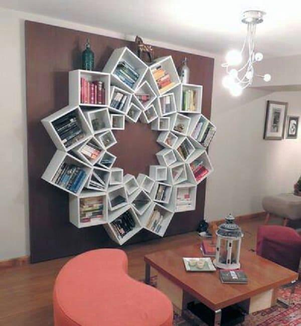 DIY Flower Bookshelves