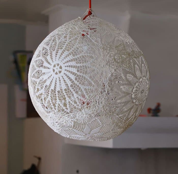 Doily lamp 2