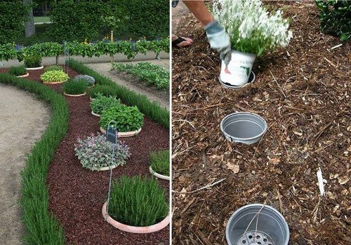 Easily switch out seasonal plants by placing your potted plants IN pots