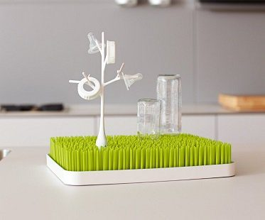 Grass Countertop Drying Rack bottles