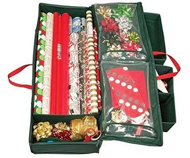 Holiday Gift Wrap Organizer open