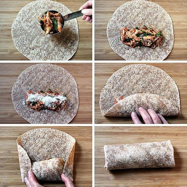 How to roll the perfect sandwich wrap