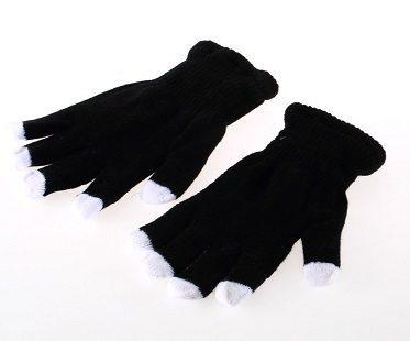 LED gloves black
