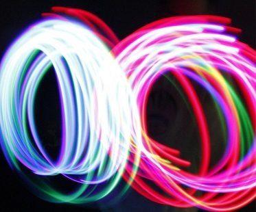 LED gloves circles
