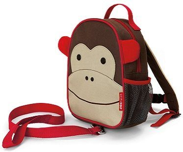 Monkey Backpack And Safety Harness red