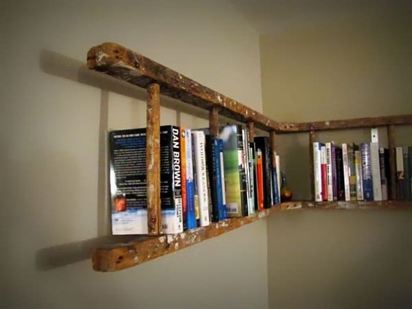 Old Ladder Into Bookshelf 1