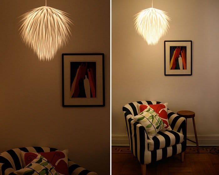 Paper Starburst Pendant Light 2