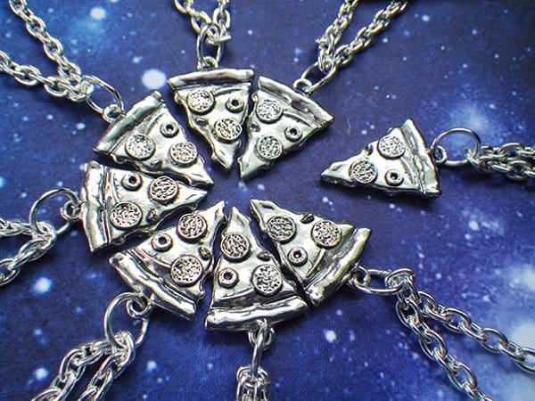 Pizza BFFs Necklace 1
