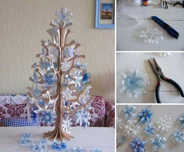 Plastic-bottle-snowflakes