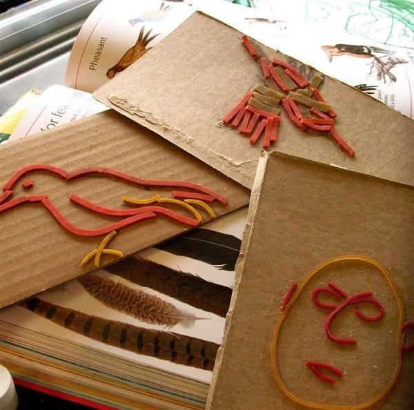 Repurpose your rubber bands as decorative stamps